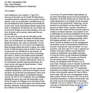 Hans Redeker, NRC Handelsblad